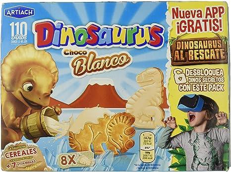 ARTIACH Dinosaurus galletas de cereales con chocolate blanco caja ...