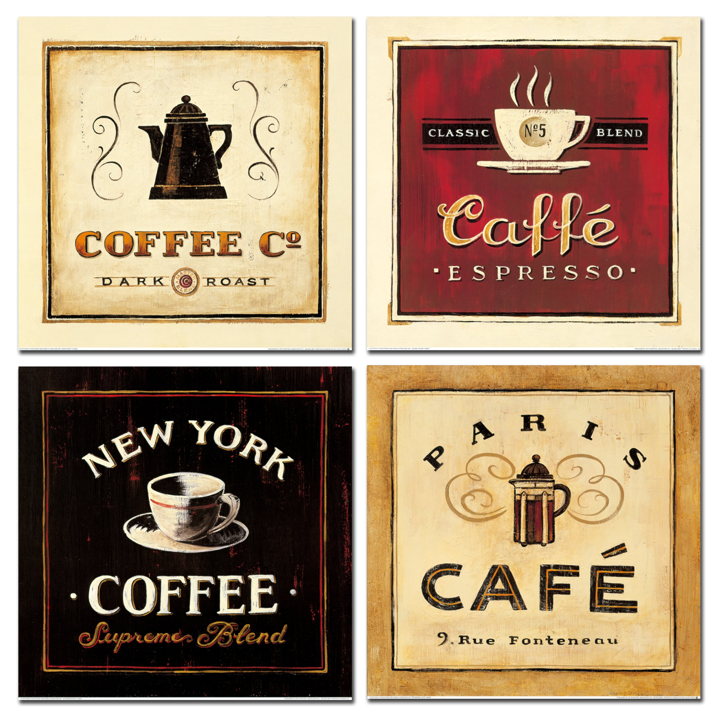 Abstract Coffee Canvas Prints Wall Art Pictures Drinking Paintings ...