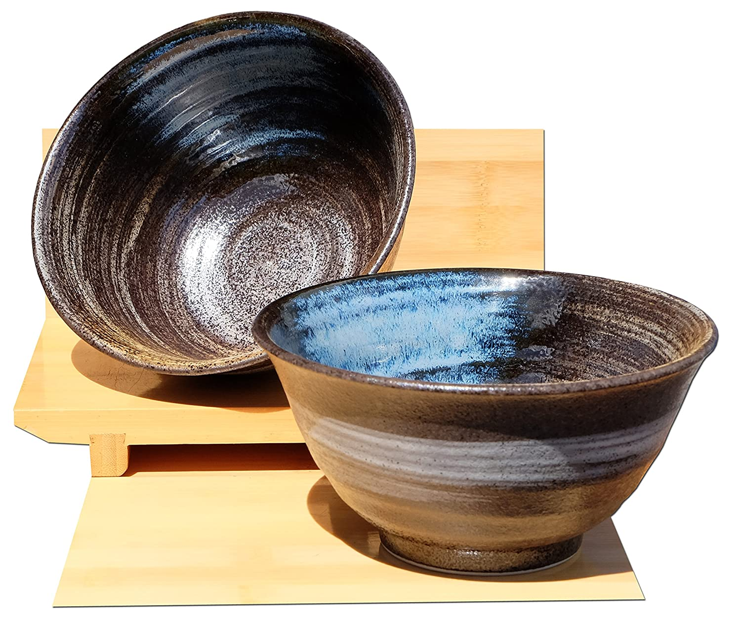 Coastal Waters ceramic bowls Japanese for two Gifts Of The Orient GOTO