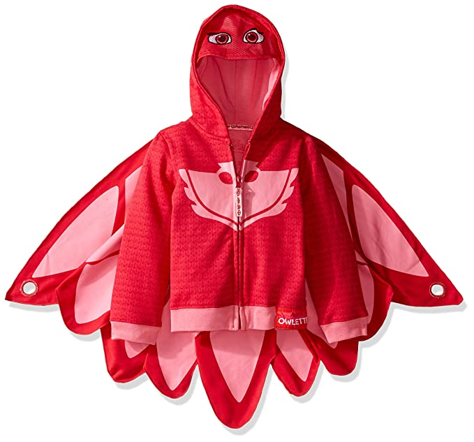 PJ Masks Owlette Toddler Girls Fancy dress costume Hooded Sweatshirt 4T