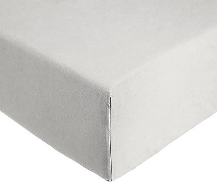 10072e865ca AmazonBasics Everyday - Sábana bajera ajustable (100% algodón) Gris claro -  160 x