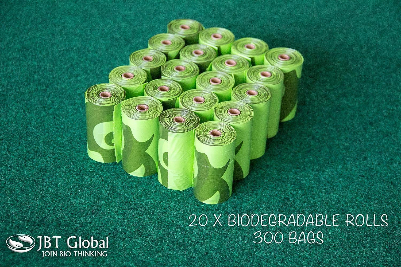 JBT Global 300 Bolsas biodegradables para Perros y Gatos con ...