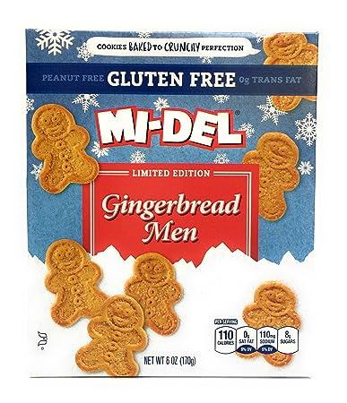Amazon.com: Mi-Del Gingerbread Men Limited Edition Cookies Gluten ...