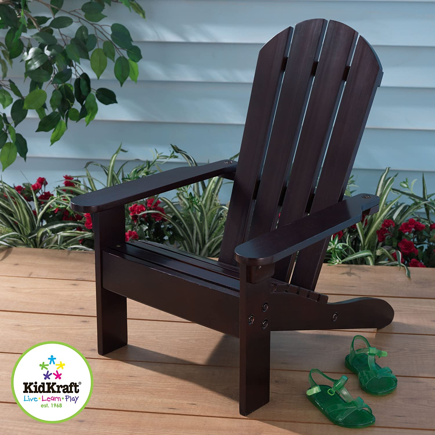 Amazon KidKraft Adirondack Chair Espresso Toys & Games