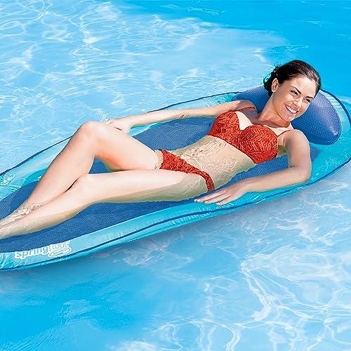 SwimWays-6038957-Water-Hammock-Styled-Spring-Swimming-Pool-Float-Blue-Recliner