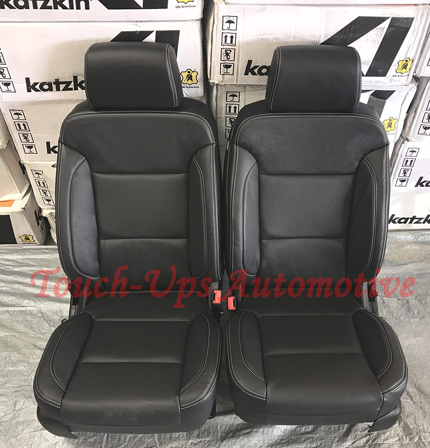 Excellent Katzkin Black Leather Seat Covers For 2016 2017 2018 Chevrolet Silverado Crew Cab Lt Andrewgaddart Wooden Chair Designs For Living Room Andrewgaddartcom