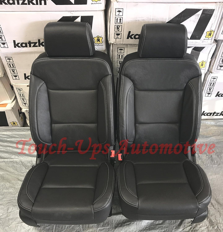 Pleasant Katzkin Black Leather Seat Covers For 2016 2017 2018 Chevrolet Silverado Crew Cab Lt Uwap Interior Chair Design Uwaporg