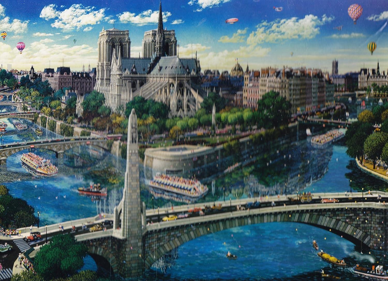 Notre Dame Piece By Alexander Chen 1500 Piece Dame Jigsaw Puzzle 8eb4bb