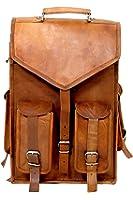 "Imperial Vintage Leather Handmade Backpack 15 X 12"" Laptop School Collage Bag"