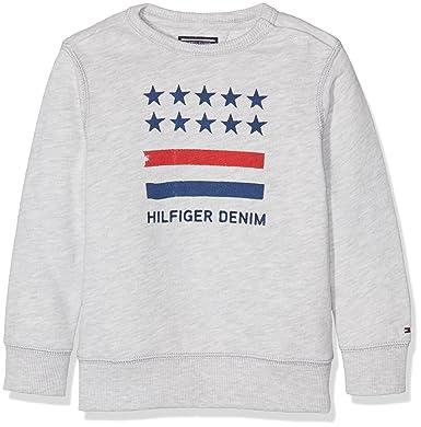 Tommy Hilfiger Jungen Sweatshirt AME CN HWK L S, Grau (Light Grey ... ec3102b530