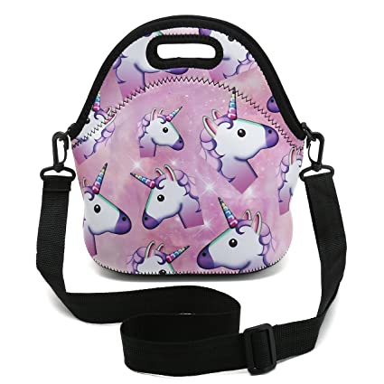 Luggage & Bags Cartoon Animal Unicorn Lunch Bags Girl Portable Waterproof Insulated Big Cold Canvas Picnic Totes Case Kids Women Thermal Box