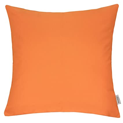 Amazon Com Homey Cozy Outdoor Throw Pillow Cover Classic Solid