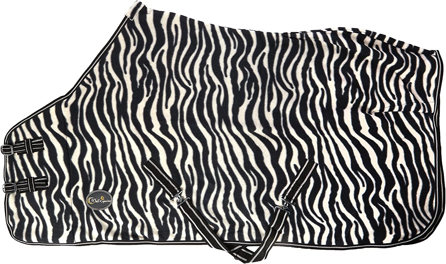 CWELL EQUINE NEW HORSE COB PONY SHOW TRAVEL ZEBRA PRINT FLEECE RUG 49-70