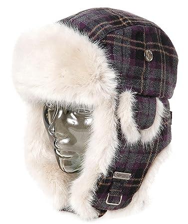 Barts Kamikaze Bomber Hat Winter Frauen warme Mütze Fellmütze Kunstfell Weiß
