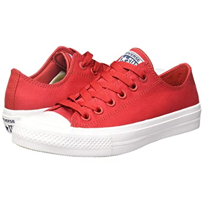 13bf163c3403 ... Converse Unisex Chuck Taylor All Star II Ox Salsa Red White Navy Sneaker  ...