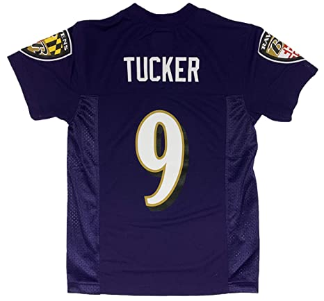 new arrivals 1be1a 9a34c Outerstuff Justin Tucker Baltimore Ravens #9 Purple Youth Home Mid Tier  Jersey