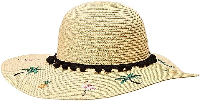 Betsey Johnson Women s Flamingo Floppy Hat 39ce84fb6a02