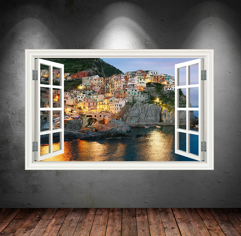 Wand Smart Designs wsd25l Full Farbe Griechenland, Klippen Meer ...