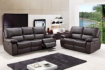 Amazon.com: Blackjack Furniture 9389-BROWN-2PC Modern ...
