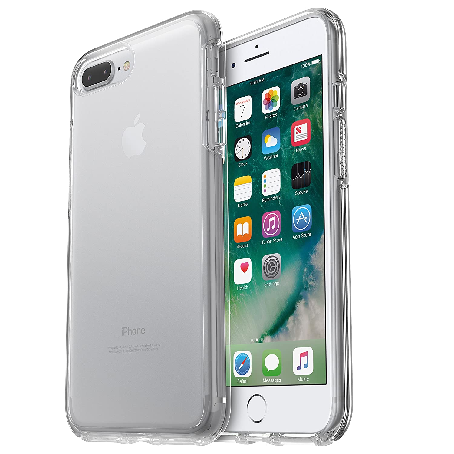 558266f35208b5 Amazon.com: OtterBox SYMMETRY CLEAR SERIES Case for iPhone 7 Plus (ONLY) -  Retail Packaging - CLEAR (CLEAR/CLEAR): Cell Phones & Accessories
