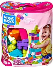 Mega Bloks 80 pc Big Building Bag (Pink)