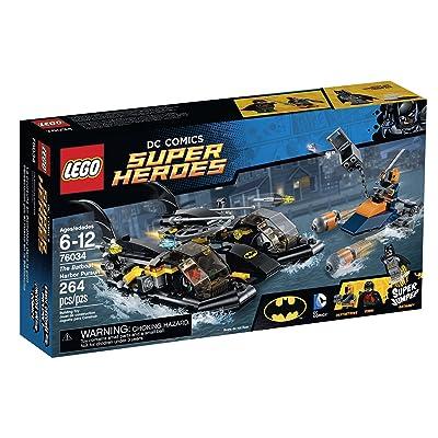 LEGO Super Heroes 76034 The Batboat Harbor Pursuit Building Kit: Toys & Games