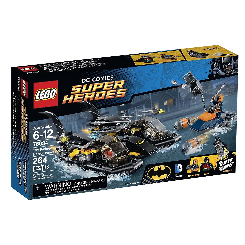 LEGO Super Heroes 76034 the Batboat Harbor Pursuit Building Kit by LEGO
