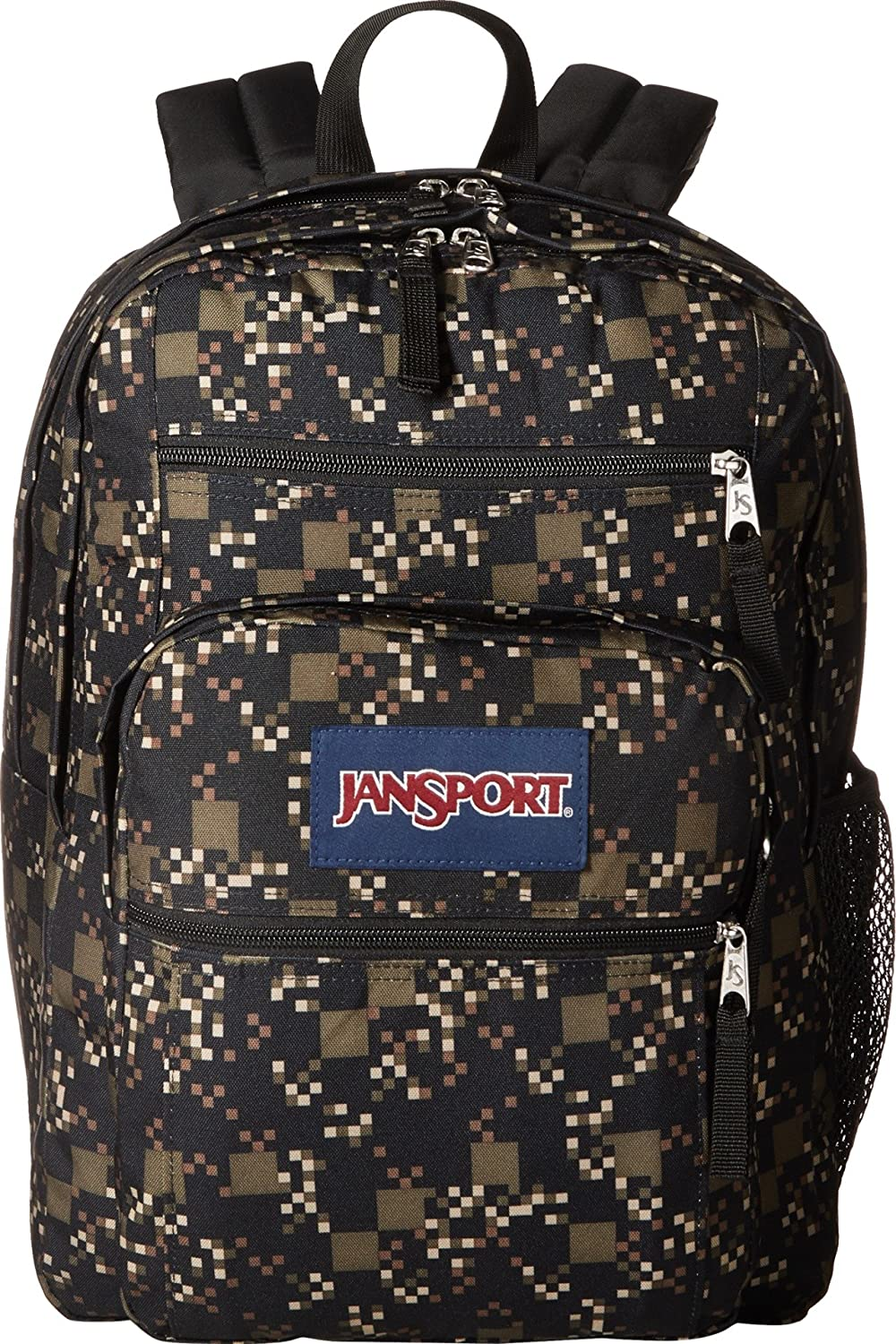 JanSport Big Student Backpack, Green Machine Digi Cube