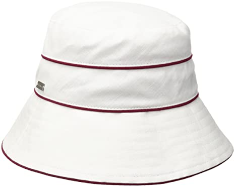 093f72dc11d Betmar Women Ava Bucket Hat White Red One Size Fits Most at Amazon ...