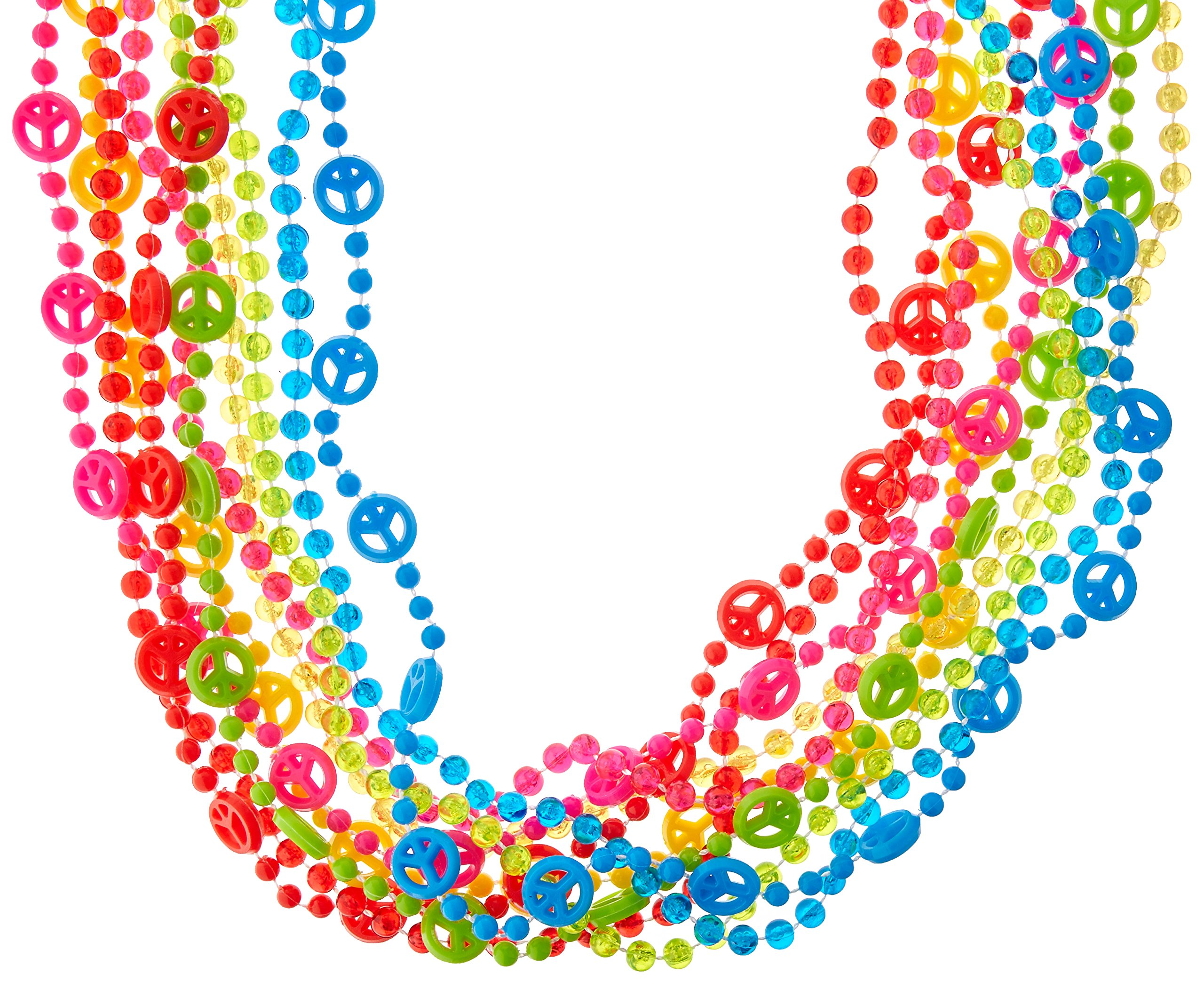 Amscan 60's Party Beads, 30'', 60 Ct.