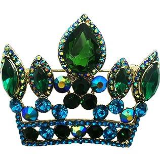 8ad1ea711 TTjewelry Bride Imperial Crown Wedding Pendant Rhinestone Crystal Brooch Pin