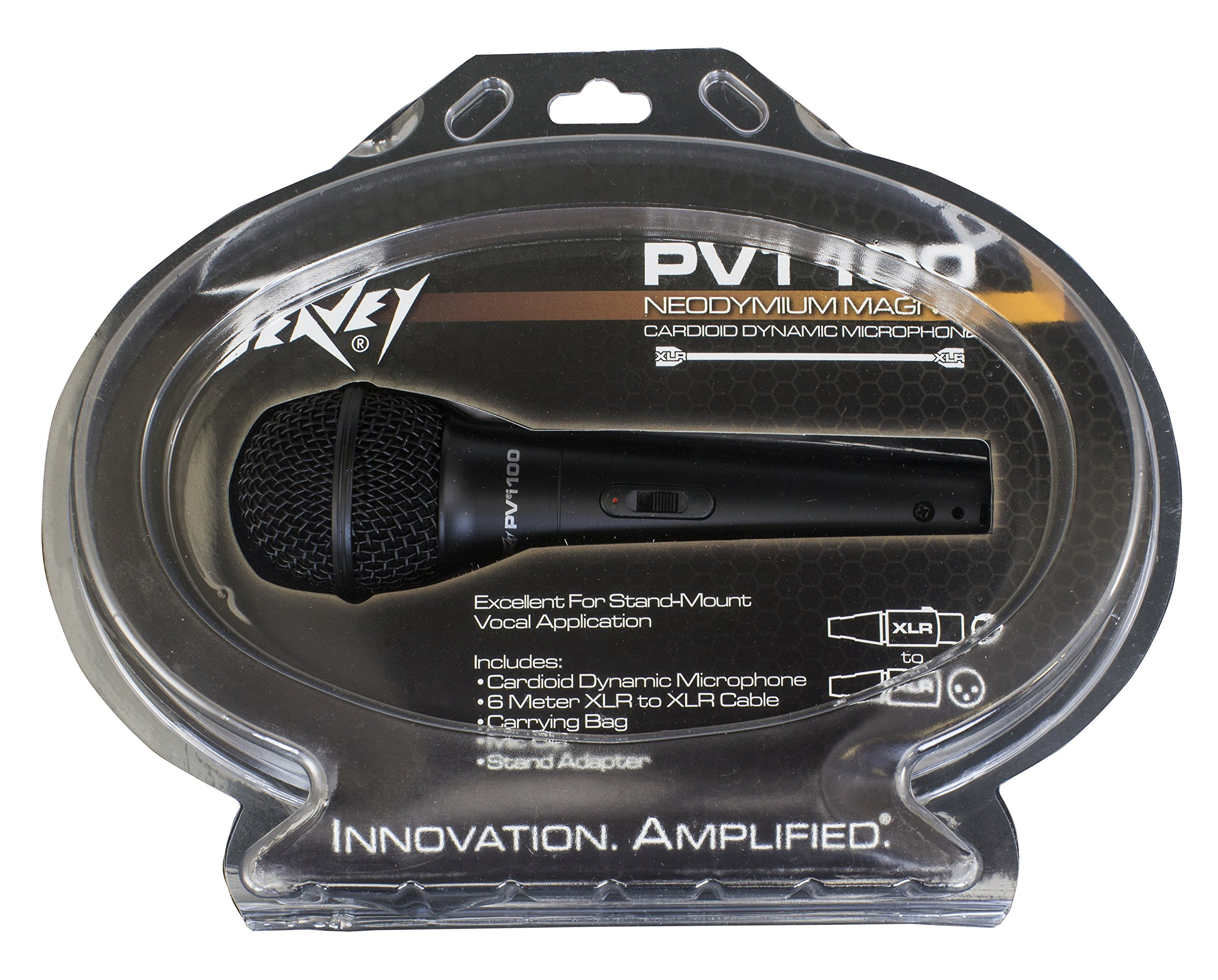 Peavey Pvi 100 Dynamic Vocal Cardiod Microphone with XLR Cable and Clip by Peavey