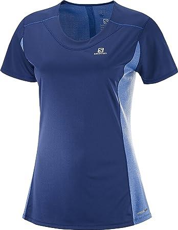 SALOMON Damen Agile T Shirt Heather Tee W Yellow xdSF2