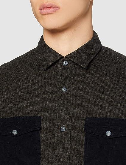 Marca Amazon - find. Camisa Utilitaria Casual Hombre