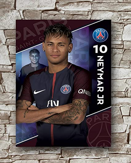 ff77b2e869a Amazon.com  Huawuque Paris Saint-Germain F.C. Neymar Poster Standard ...