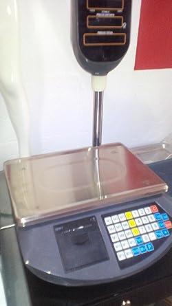 balanza bascula con impresora de ticket programable y torre alta ...