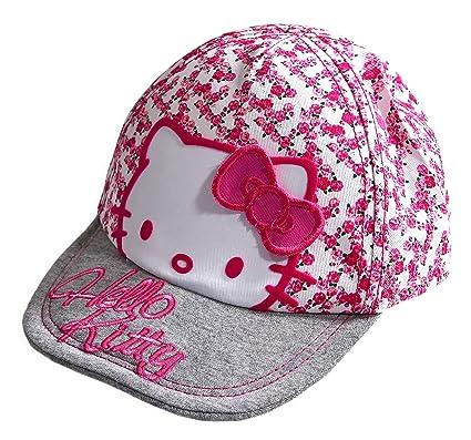 416bbc1f4 Girls Hello Kitty Sun Cap / Hat Baseball Cap Pretty Floral Pattern 3-6  Years or 7-10 Years (7-10 Years): Amazon.co.uk: Clothing