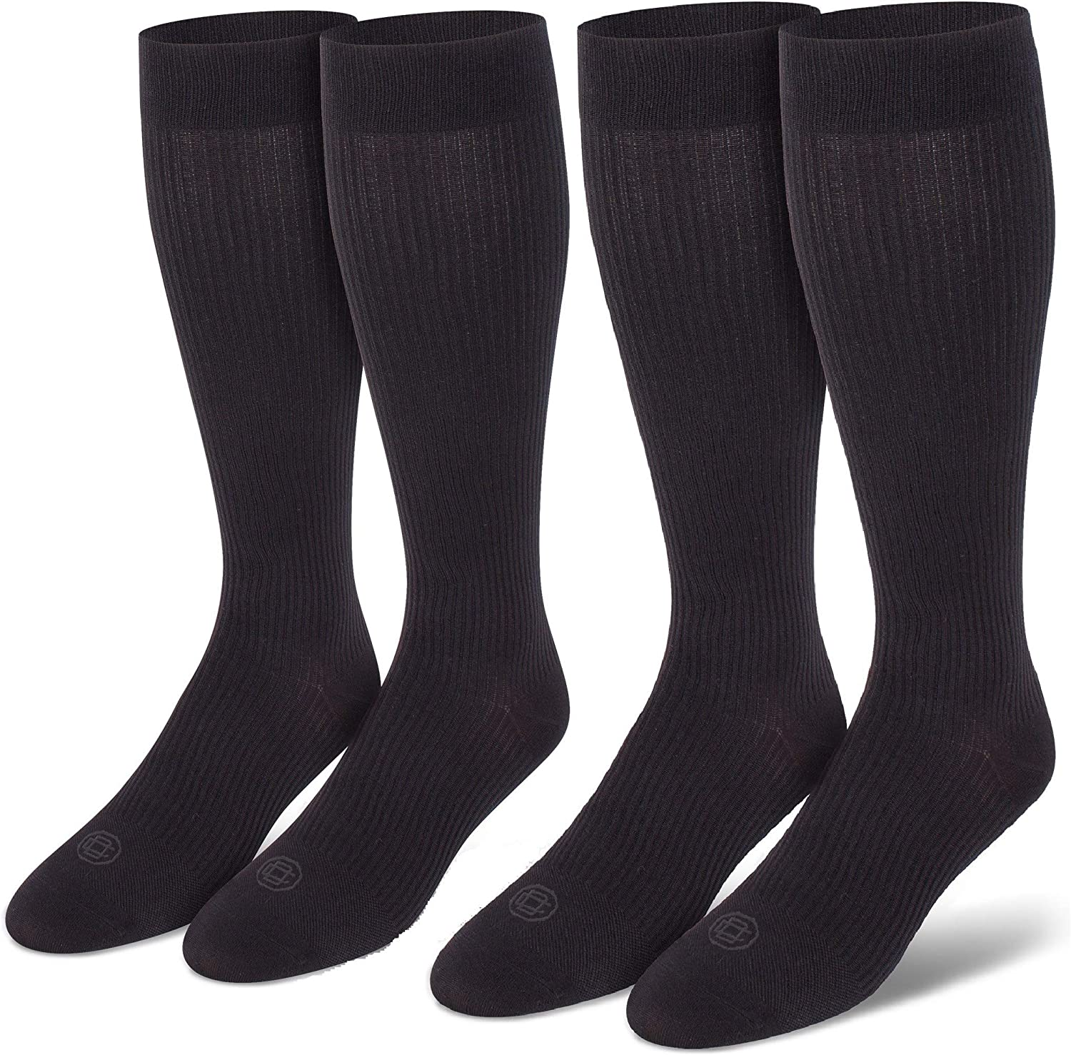 Doctor's Choice Men's Graduated Compression Socks, 8-15 mmhg, Over the Calf, Single & 2 Pair Packs, Large: Shoe Size 6-12.5