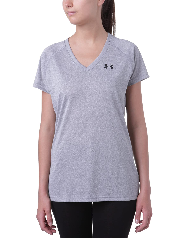 dc073a4accb0 Top13: Under Armour Women\'s UA Tech™ Short Sleeve V-Neck Medium True Gray  Heather