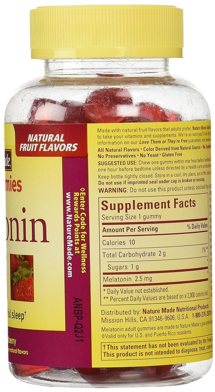 Amazon.com: Nature Made Melatonin Adult Gummies, 90 Count: Health &  Personal Care