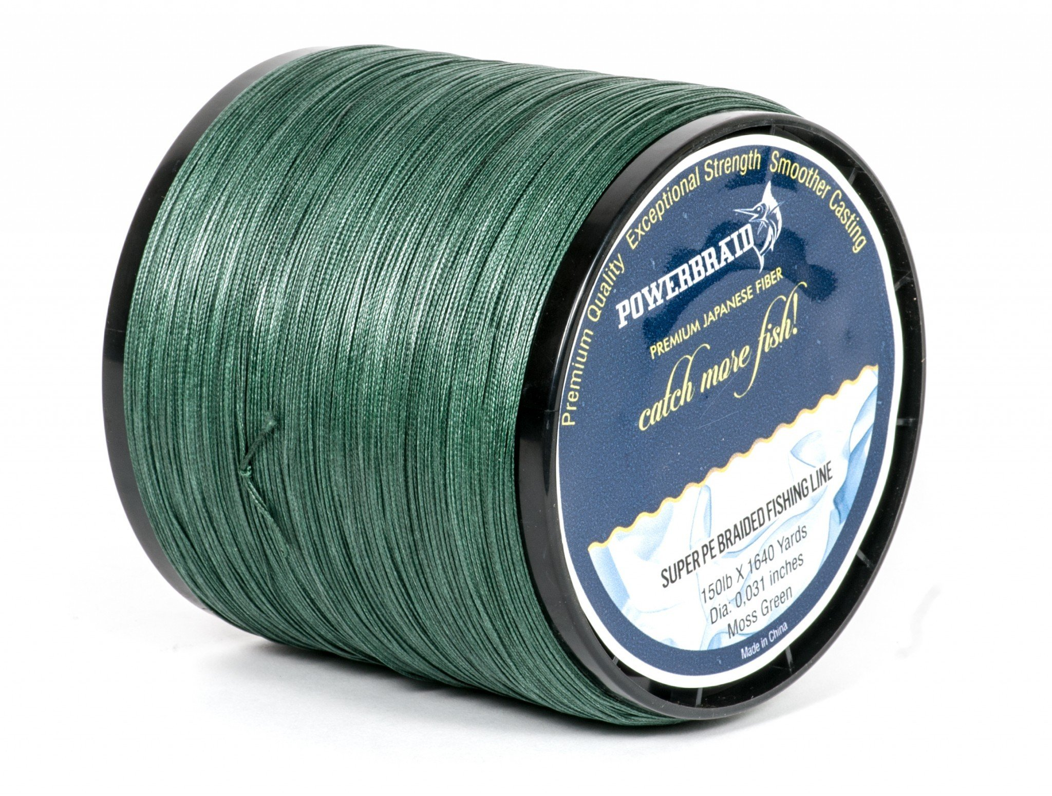 POWERBRAID Premium Quality Braided Fishing Line 150 lb Moss Green with 1640 Yards by POWERBRAID