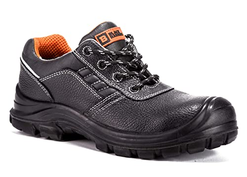 252fd9df585 Black Hammer Mens Leather Safety Trainer Shoe Non Metal S3 SRC Rated Ultra  Lightweight Composite Toe Cap Kevlar Midsole Non Metallic Work Boots Ankle  Hiker ...