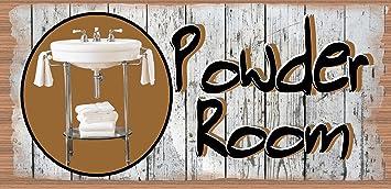 Powder Room Sign   Bathroom Plaque   Bathroom Sign