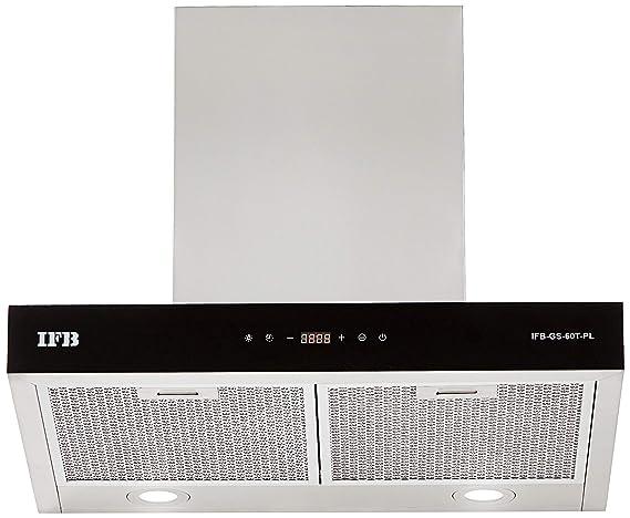 IFB 60cm 1050 m3/hr Chimney (GS-60T-PL, 2 Cassette Filters, Touch Control, Silver)