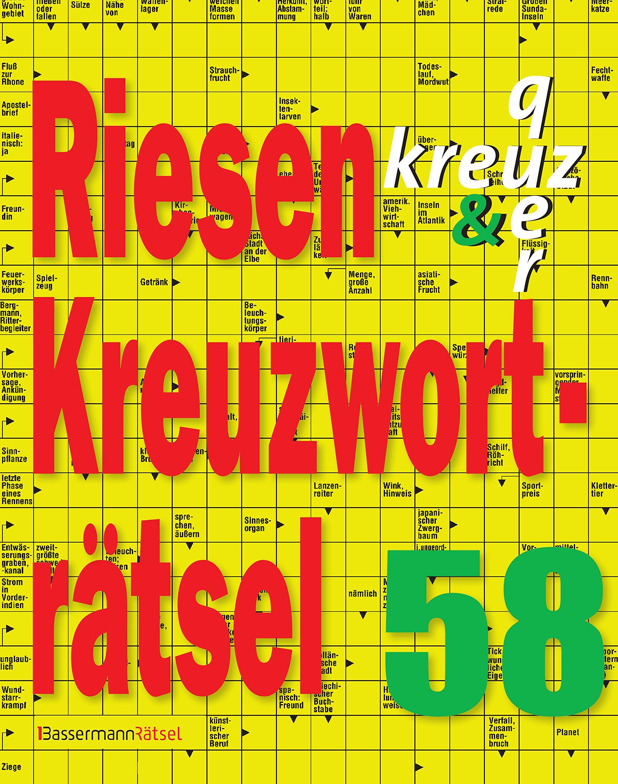 Riesen-Kreuzworträtsel 58 Broschiert – 26. März 2018 Eberhard Krüger Bassermann Verlag 3809438936 Spielen / Raten