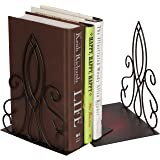 """8"""" Metal Scroll Design Bookends Set - Elegant Style by Trademark Innovations"""