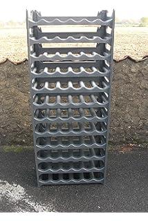 Metaltex 383772099 Flaschenregal Für 72 Flaschen 58 X 26 X 123 Cm