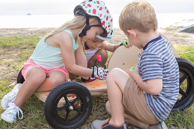 BMX - Bicicleta KIDDIMOTO Guantes de Ciclismo sin Dedos para Infantil Monta/ña ni/ñas y ni/ños Carretera MTB