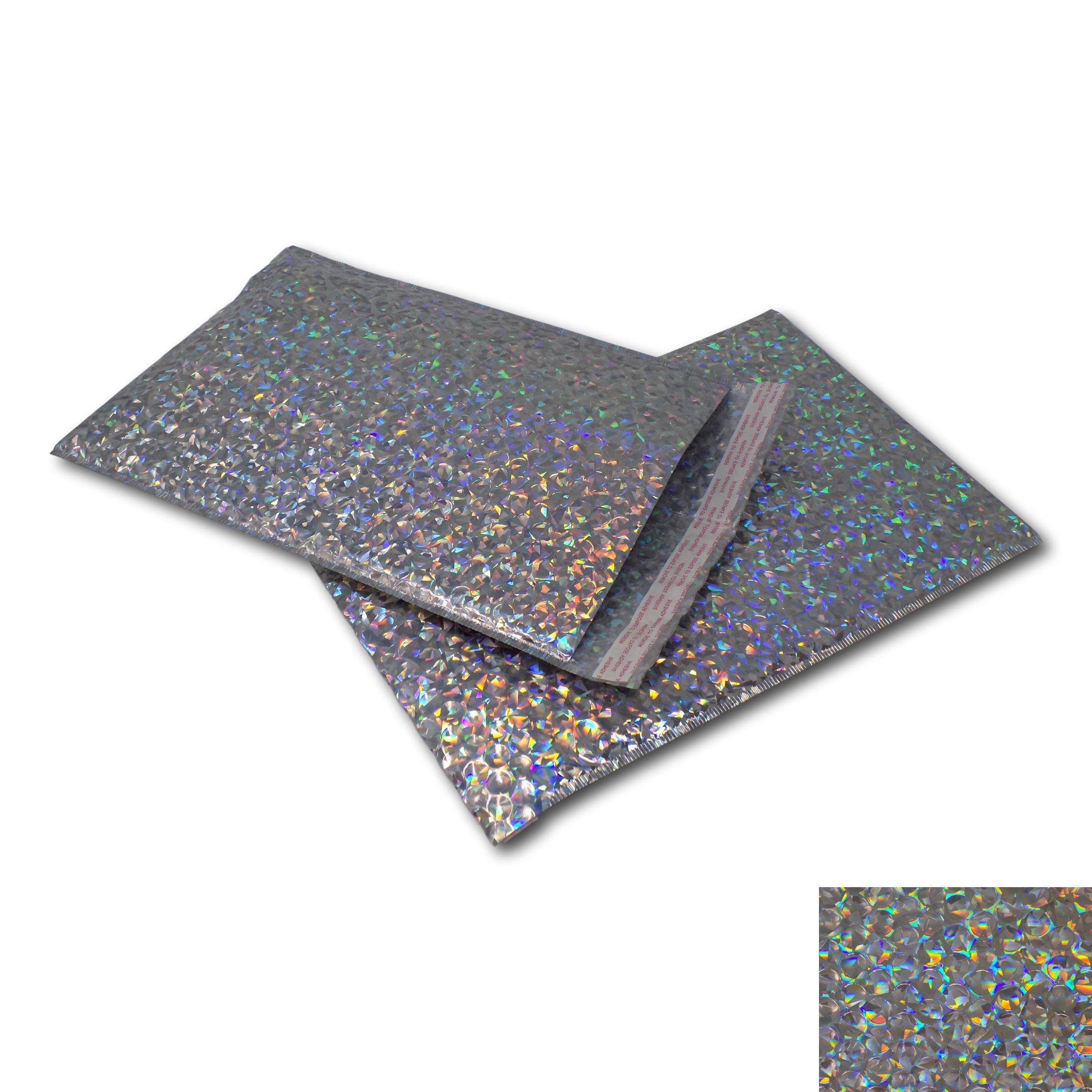 5 Hot Pink 165mm x 165mm CD Shiny Metallic Bubble Padded Bag Mailing Envelopes
