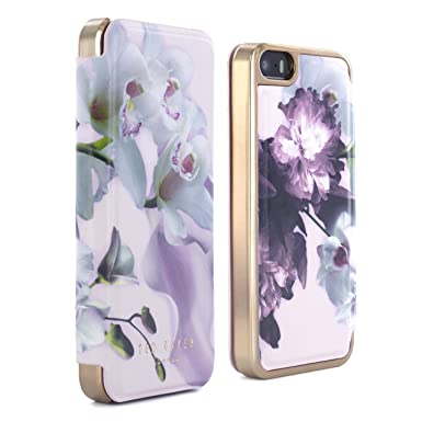91b06bf9e2a0 Ted Baker SS16 Mariel Mirror Folio Style Case for iPhone SE  Amazon ...